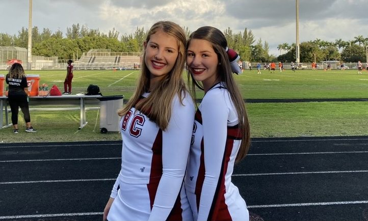 Addison Fiorillo's (l) cheerful disposition and academic discipline endeared her to many teachers and fellow students such as her cheer teammate and friend Madilyn Gersten (r).