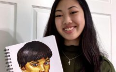 Alyssa Leong's is known around campus to be a woman of many talents with a brush, a pen, or a pompom. The drawing pictured above is part of a series that will focus on the color yellow.